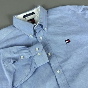 Vtg 90's Tommy Hilfiger Button Down Shirt Size XL